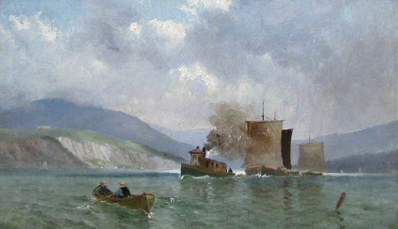 Boats on the Saguenay River