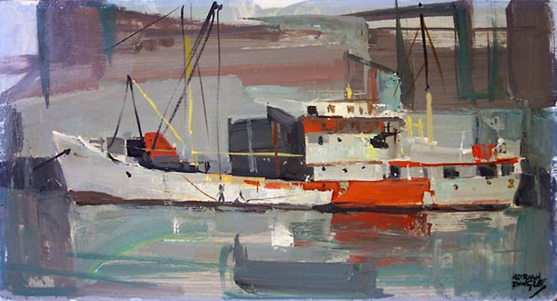 Red and Grey, Gloucester Harbour Image 1