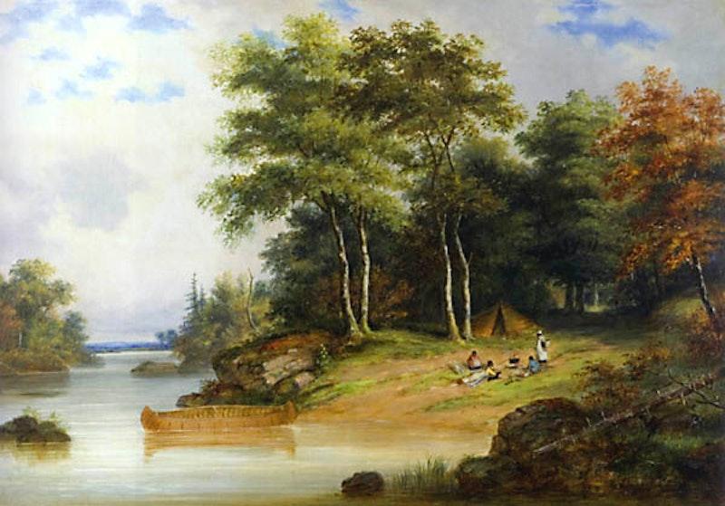 Indian Encampment, Lake Memphramagog Image 1