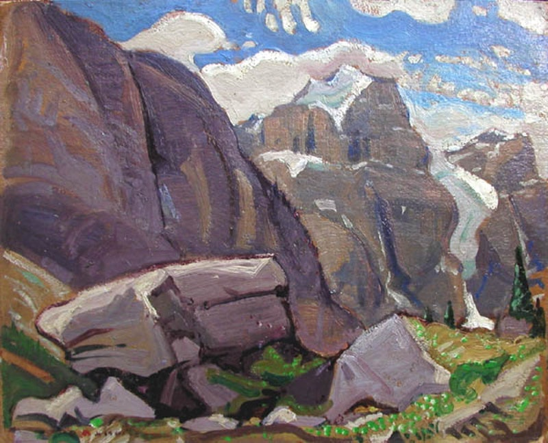 Mountain Pass - Near Moraine Lake