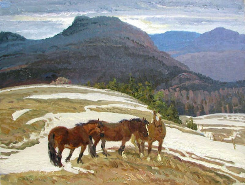 Wintering on the Ridge, Quebec Image 1
