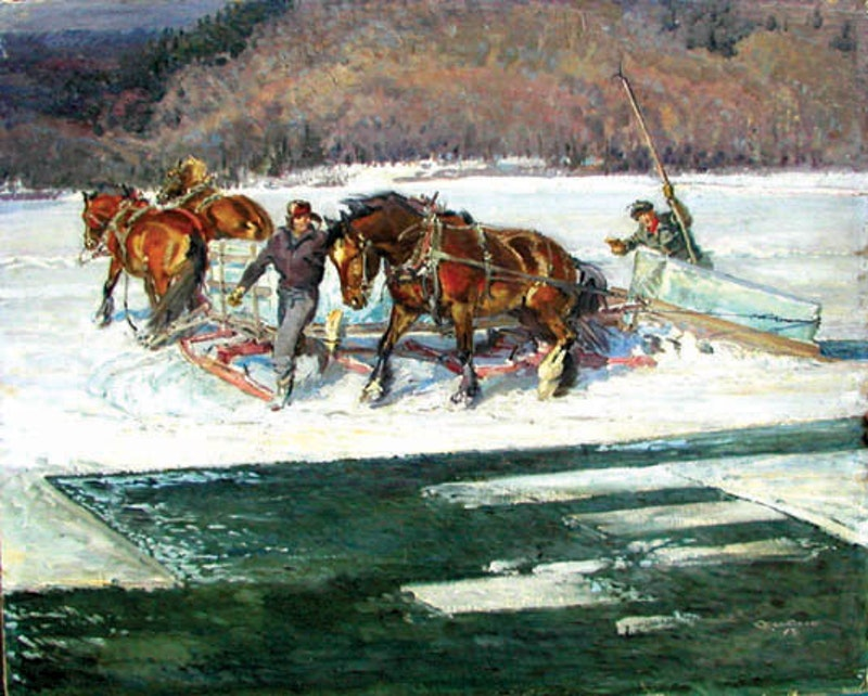 Winter Harvest, Lake St. Francis, PQ Image 1