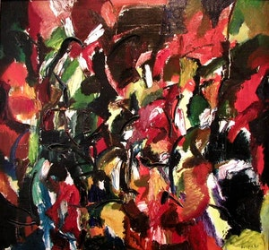 Untitled - Abstract in Red