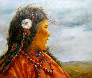 Young Mother on the Plateau
