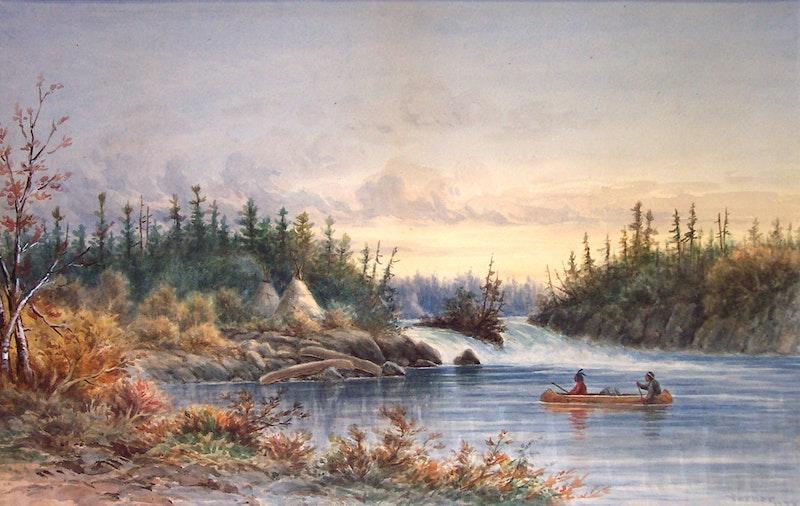 Indian Encampment, Kettle Falls