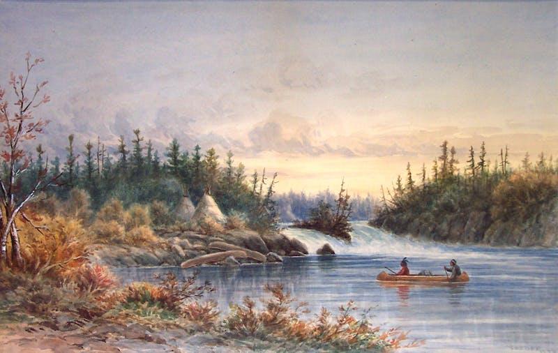 Indian Encampment, Kettle Falls Image 1