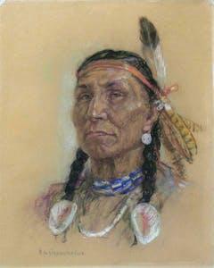 Untitled Portrait (Blue Bead Necklace)