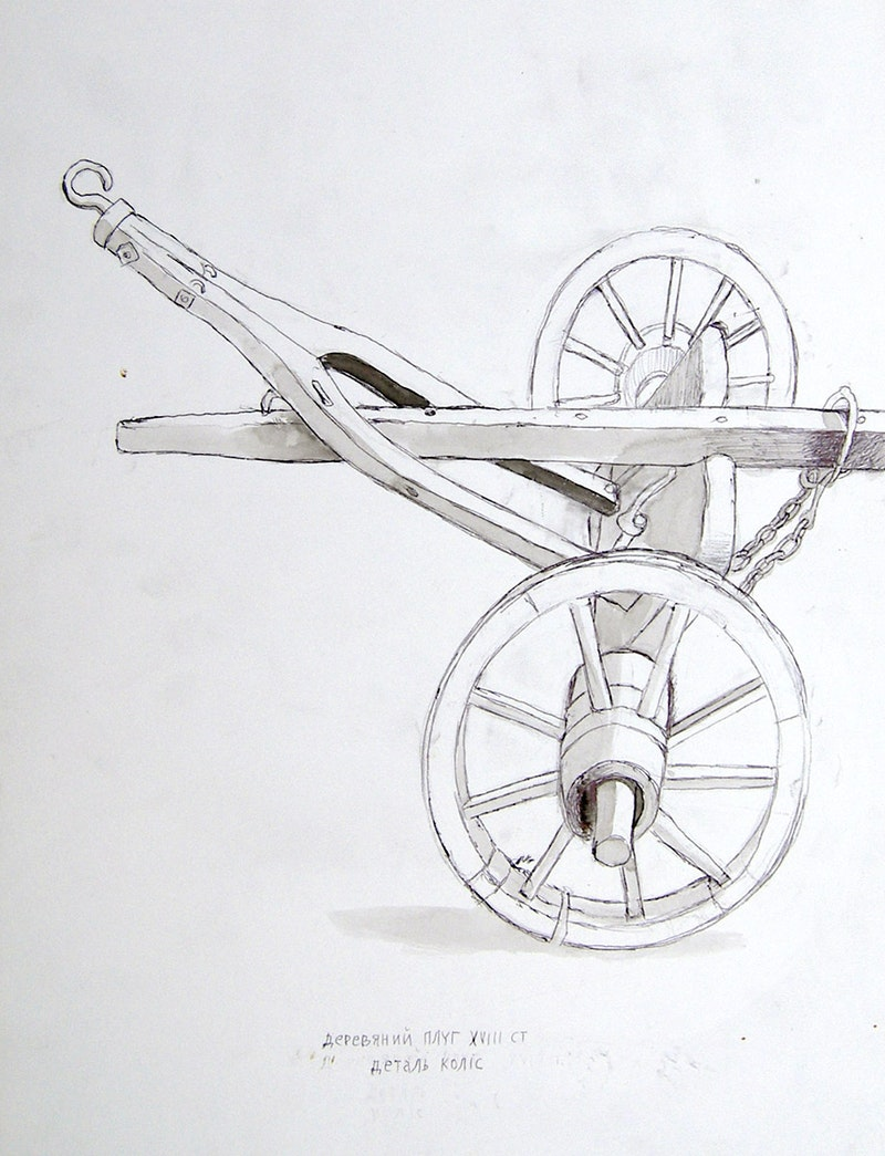 18th Century Wheel Carriage Image 1