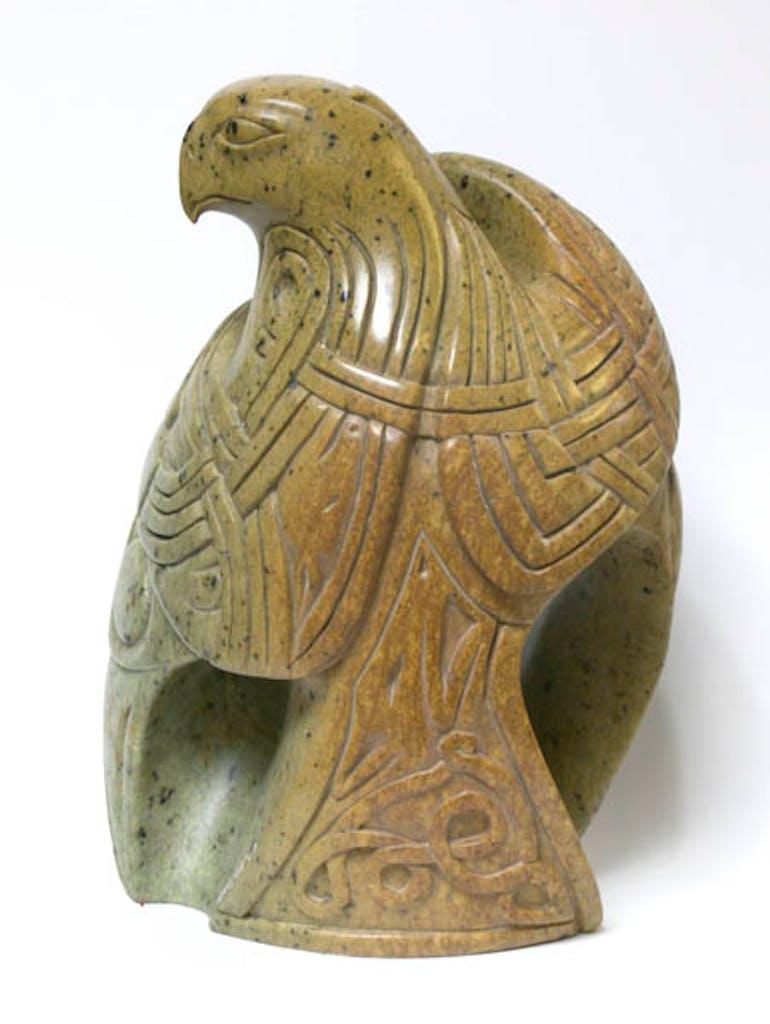 Odin Within by Abraham Anghik Ruben, 2006 soapstone - (16x14x7 inch)