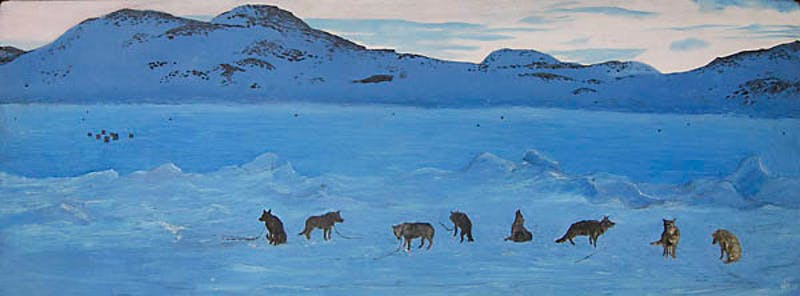 Huskies Howling to be Free, Cape Dorset, N.W.T. Image 1