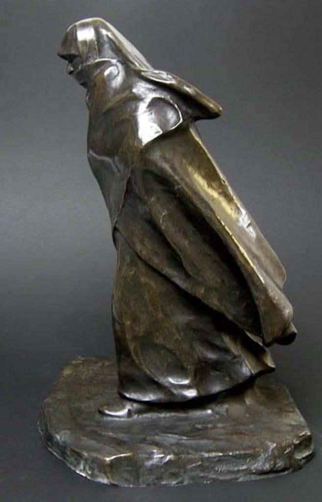 Woman of Caughnawaga by Marc Aurele de Foy Suzor-Cote, 1924 Bronze - (16x10x10 inch)