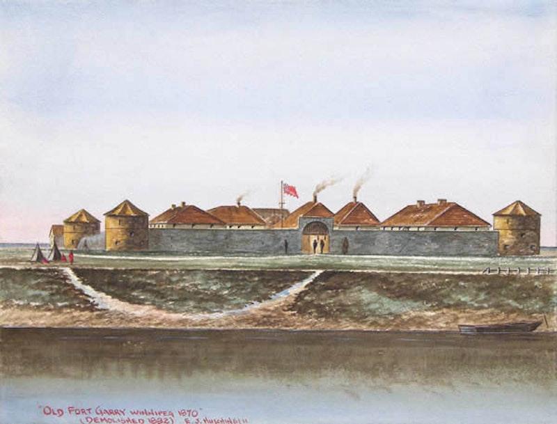 Old Fort Garry, Winnipeg 1870 Image 1