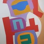 Ascending Orange by Doug Morton, 1965 oil on canvas - (84x57 in)