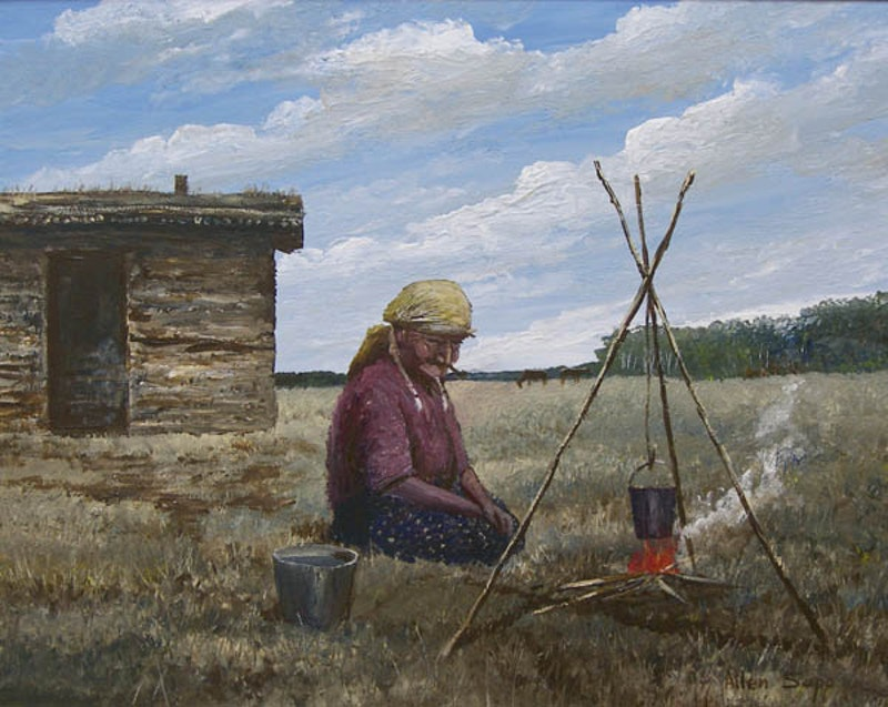 Grandmother Making Tea Image 1