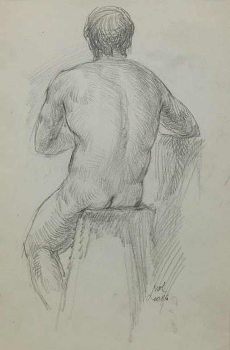 Muscular Male Nude aw3185 Image 1