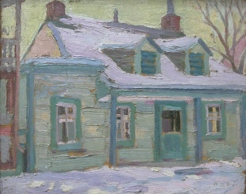 Quebec House in Winter Image 1