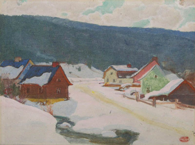 Village of Baie St. Paul in Winter Image 1
