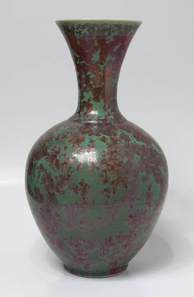 Jade Rubies Tall Neck Vase