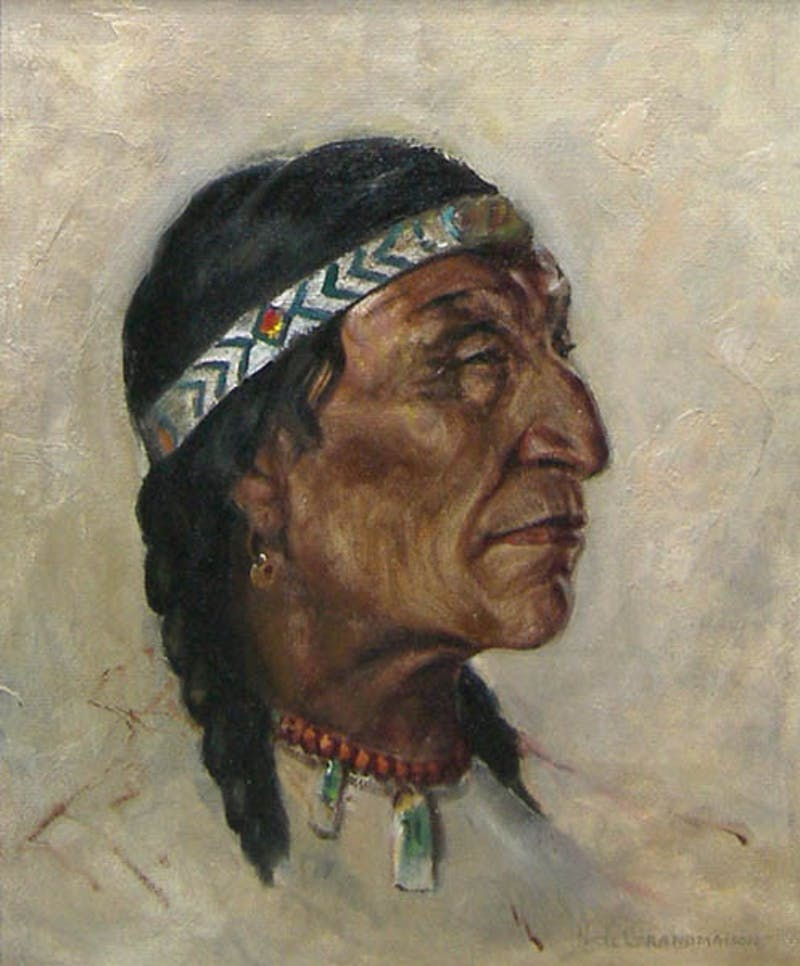 Untitled Portrait (Red Bead Necklace)