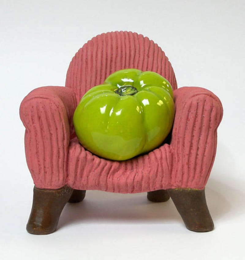 Green Armchair Tomato Image 1
