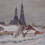 St. Jean Port Joli by Frederick Grant Banting, 1927 oil on canvas - (21x26 in)