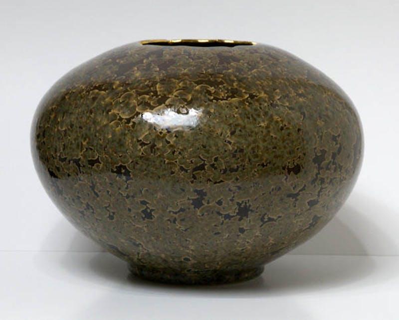 Mandarin Brown Bulb Vase Image 1