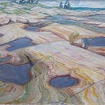 Pools in the Rocks by Doris Jean McCarthy, 1958 oil - (24x30 in)