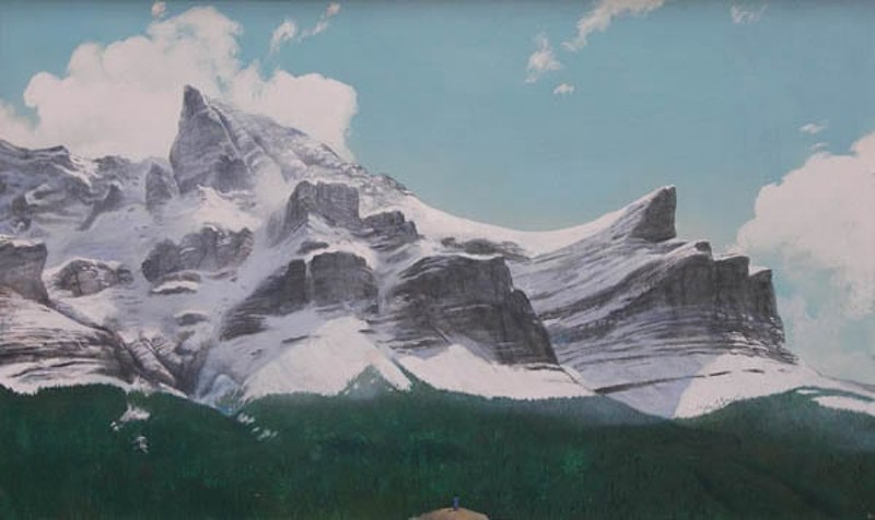 Divine Symphony of Forest, Rock and Snow Image 1