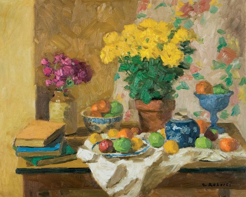 Still Life with Yellow Asters