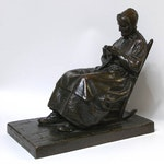 The Companion of the Old Pioneer by Marc Aurele de Foy Suzor-Cote, 1912 bronze - (15.75x9.25x17.5 in)
