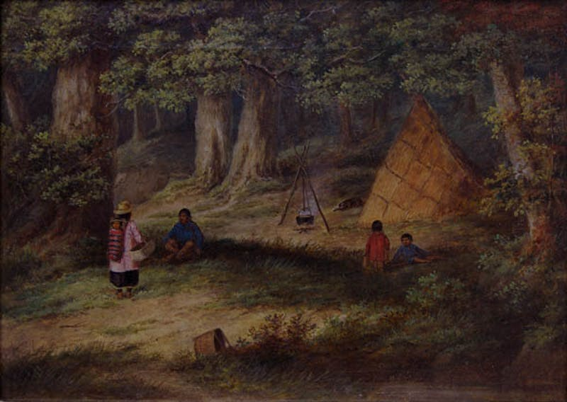 Indian Family Cooking at Camp Image 1