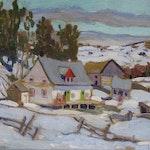 Laurentian Homestead by Randolph S. Hewton, 1938 oil on canvas - (12.25x14 in)