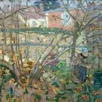 Garden Near Paris by James Wilson Morrice, 1896 oil on panel - (9x12 in)