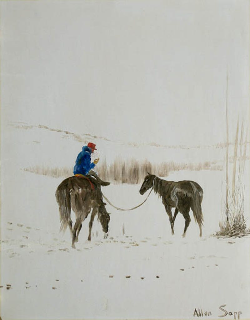 Horses in the snow Image 1