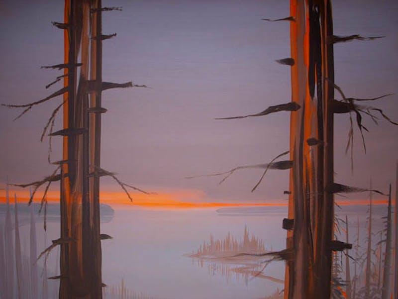 Deep Bay - Sunrise with Trees