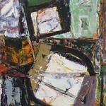 Avalanche by Henriette Fauteux-Masse, 1960 mixed media - (14x10.75 in)