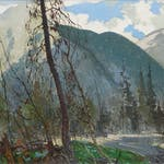 Lakeview, Early Winter, Laurentians by George Franklin Arbuckle, 1955 oil on canvas - (18.25x24 in)