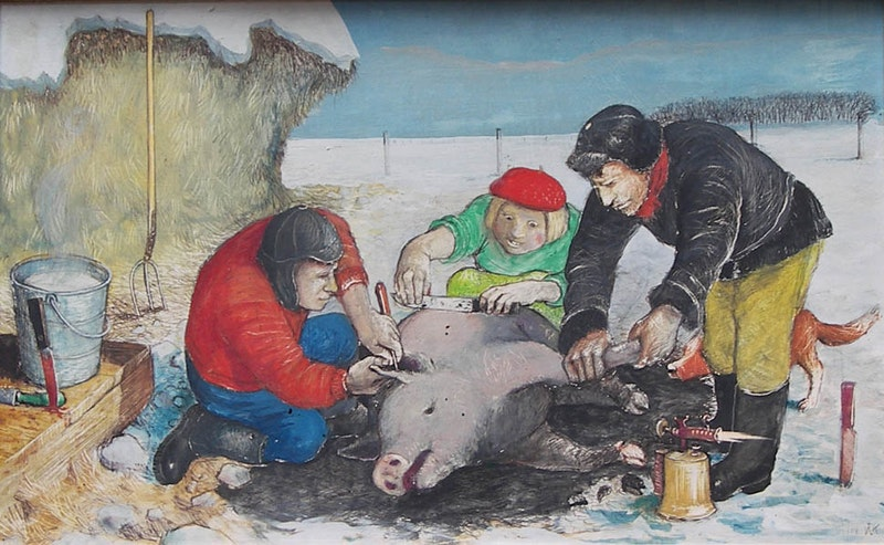 Slaughtering a Pig Image 1