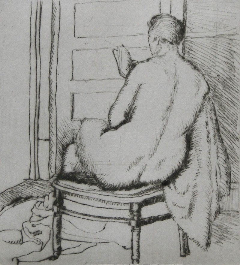 Nude Woman Reading Image 1