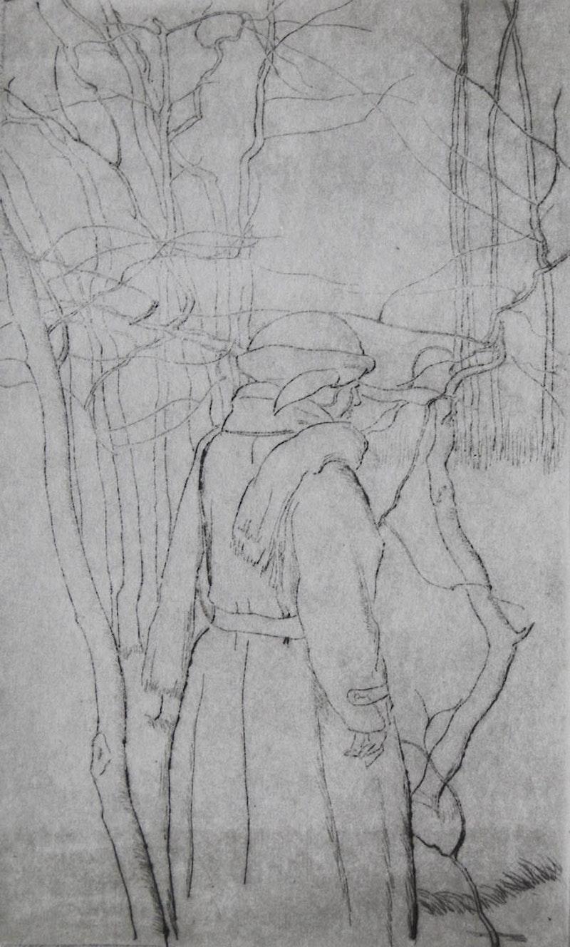 Standing Figure, Winter Image 1