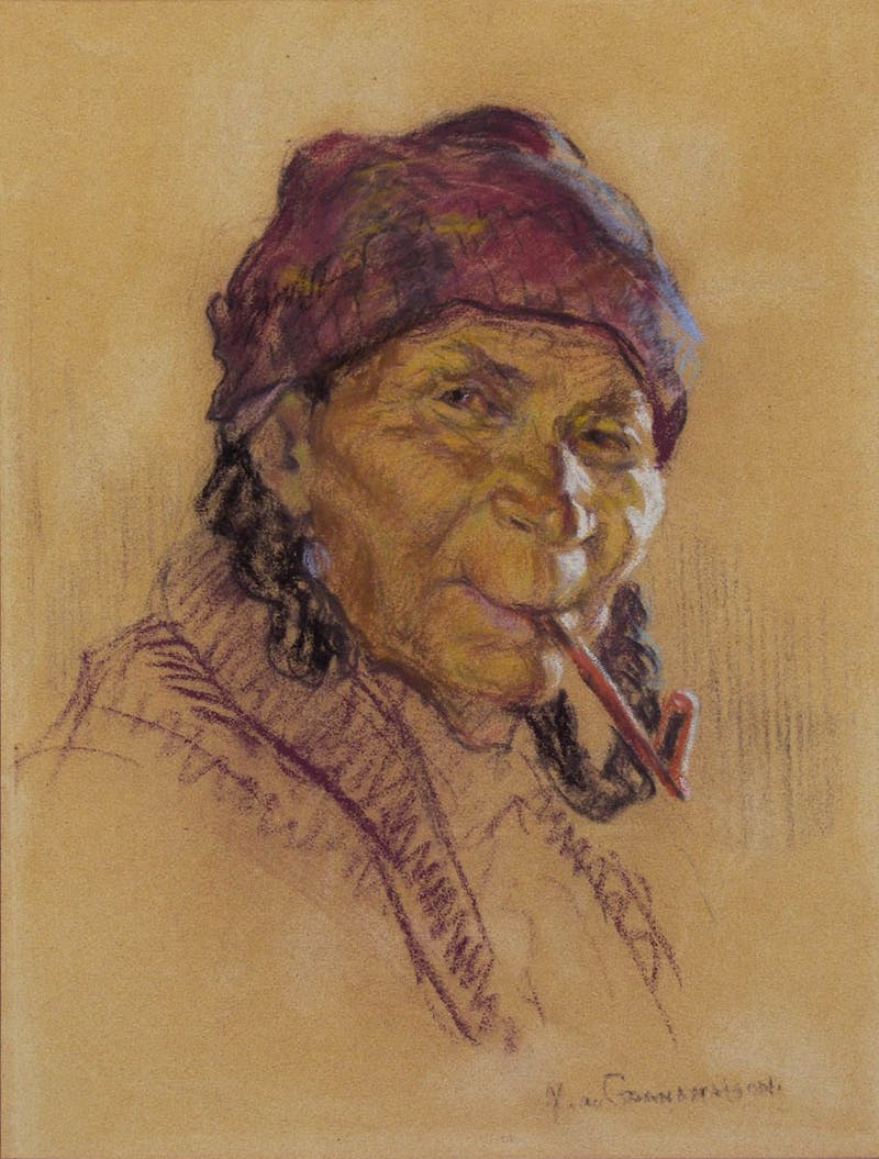 Untitled - Portrait with pipe
