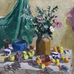 Untitled Still Life by William Goodridge Roberts, 1955 oil on panel - (25x30 in)