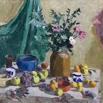 Untitled Still Life by William Goodridge Roberts, 1955 oil on panel - (25x30 in)