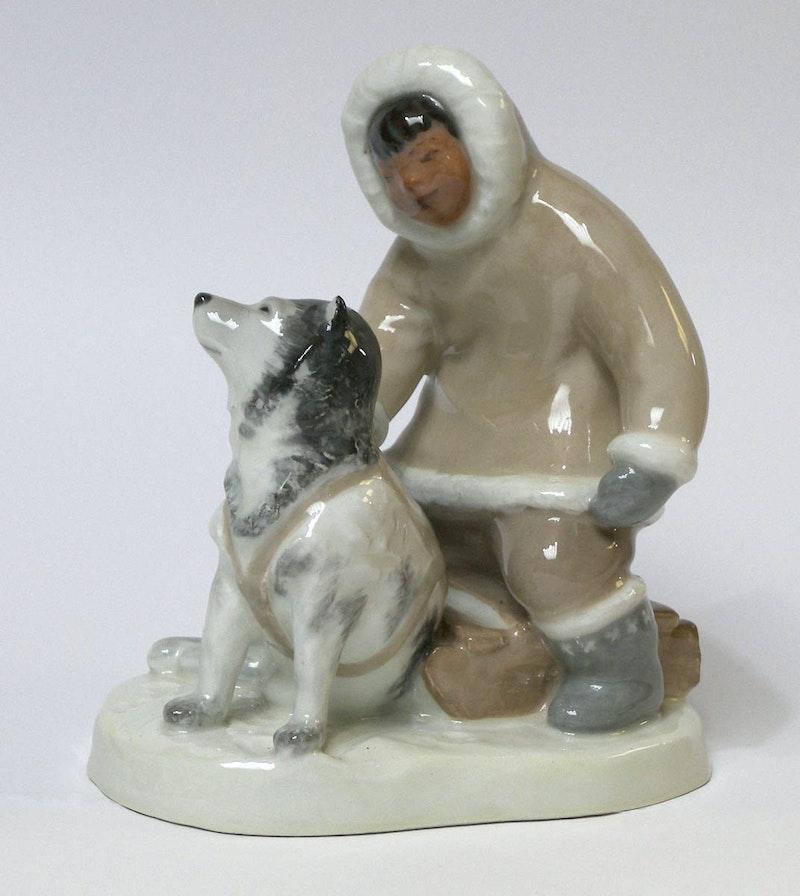 Eskimo with Dog