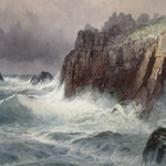 Cornwall Coast by Frederic Marlett Bell-Smith, 1894 watercolour - (17.5x24.5 in)
