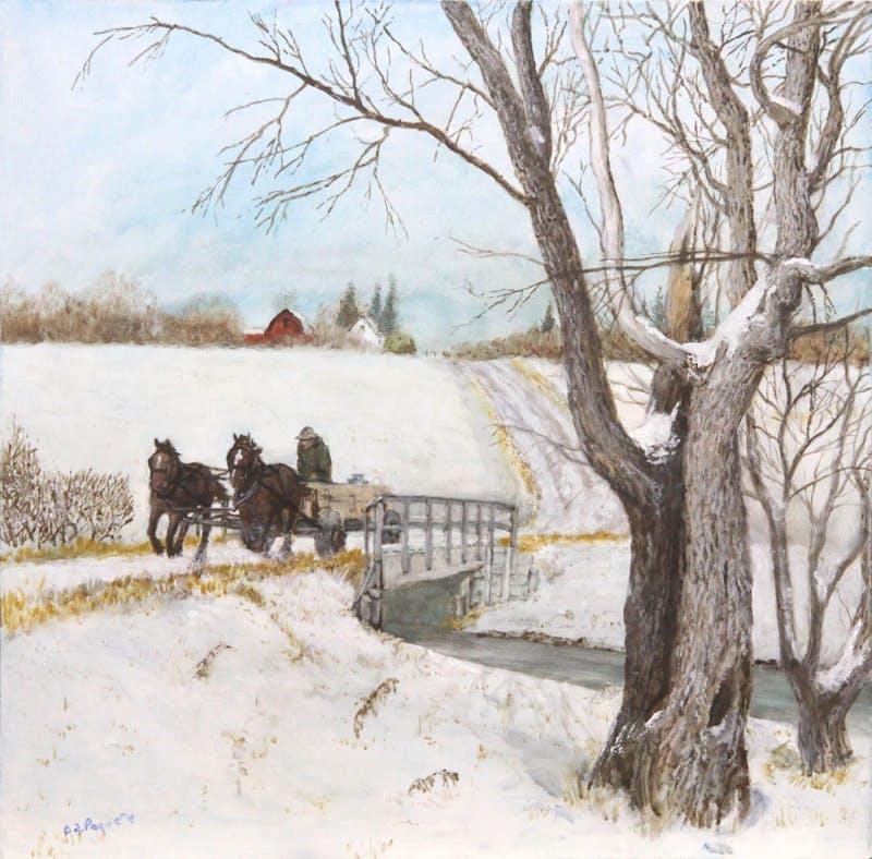 First Snowfall of 2008 November - Duncan Steward at Arden, Manitoba Image 1
