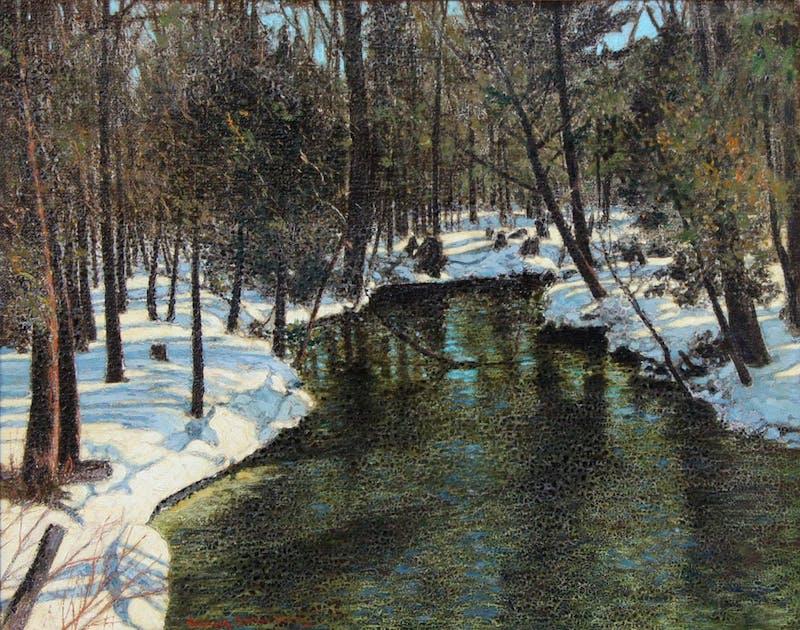 Stream in Winter Image 1