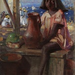 Young Child St. Kitts by Peleg Franklin Brownell, 1911 oil - (14x11 in)