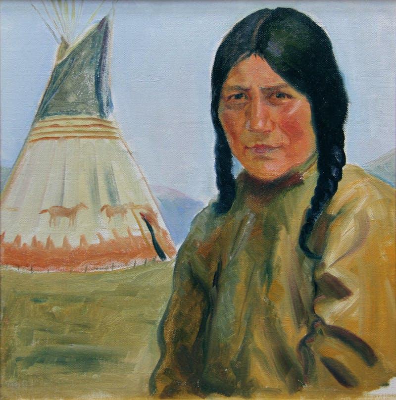 Blackfoot Indian Woman Image 1