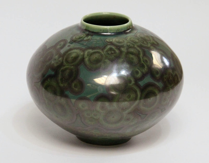 Green Bulb Vase